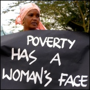 Poverty has woman's face